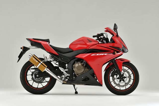 16~18CBR400R SLIP-ON TYPE-S ゴールド